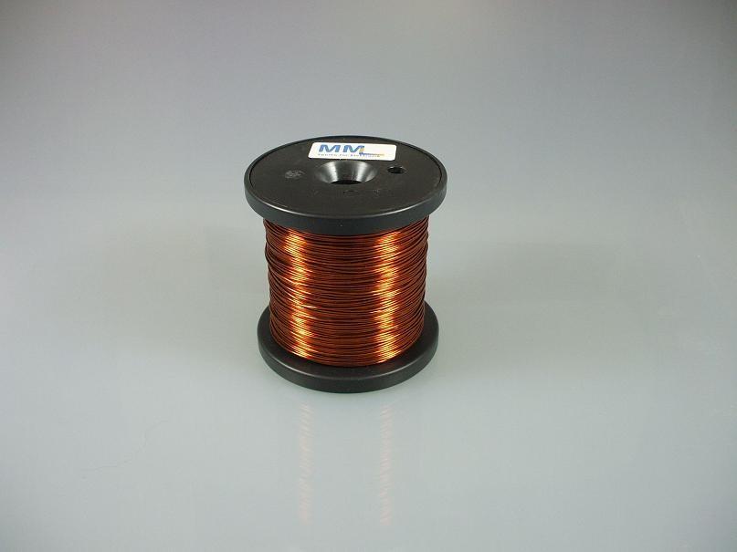 Kupferlackdraht 1 mm, lötbar, Temperaturindex 180 °C, 250 g