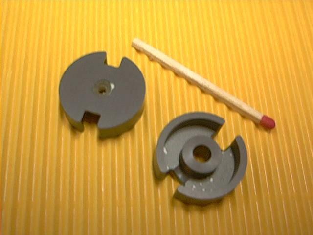 P14x8 Schalenkernsatz N48, mit Luftspalt 0,08 mm, AL 315
