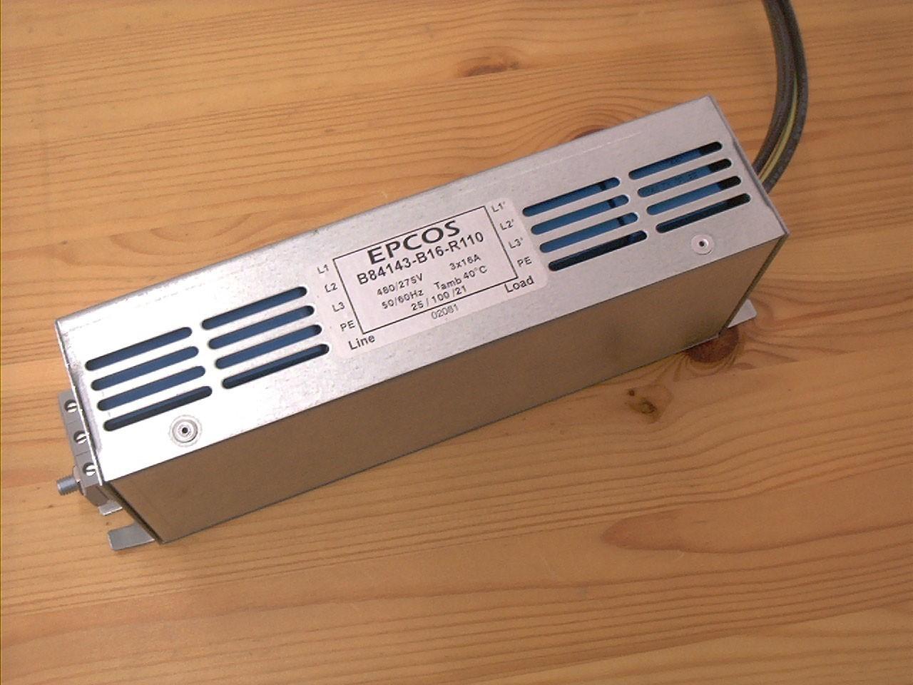 3 Phasen Netzfilter 8A, B84143-B8-R110
