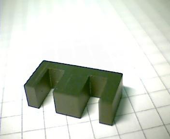 E 20 (EF 20) Kernhälfte PL7, mit Luftspalt 0,09mm, AL330