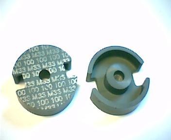 P18x11 Schalenkernsatz M33, mit Luftspalt 0,6 mm, AL 100