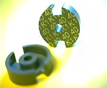 P11x7 Schalenkernsatz K1, mit Luftspalt 0,41 mm, AL 40