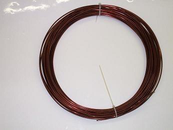 Kupferdoppellackdraht 2,5 mm, nicht lötbar, TI 210 °C, 1.000 g