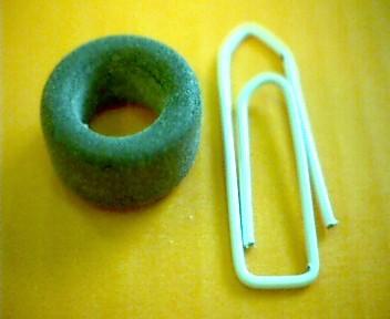Ferrit-Ringkern 13,3mm N27, AL1560, grau
