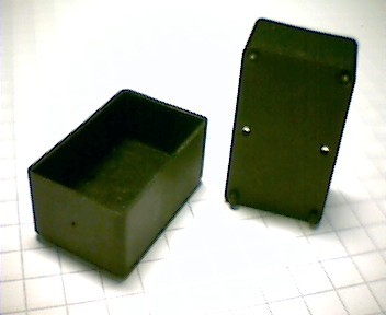 Mounting plate/potting box, e.g for toroidal cores, type 18