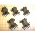 EF 12,6 SMD Coil former, horizontal, 10 pins, 1 section